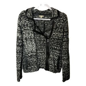 Anthropologie Mystree Moto Sweater Medium